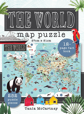 World Map Puzzle by Tania McCartney
