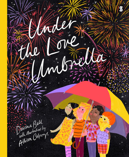 Under the Love Umbrella Hardback Book by Davina Bell BOARD BOOK