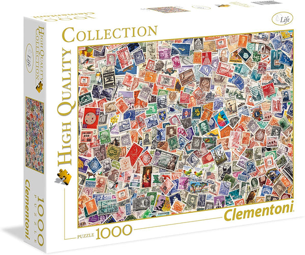 Clementoni Stamps Jigsaw Puzzle 1000pc