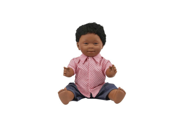 Down Syndrome Doll - African Boy 40cm