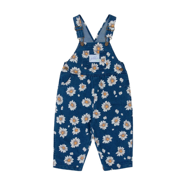 Goldie + Ace Daisy Drill Overalls Navy