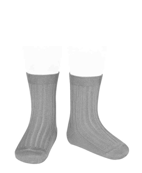Condor Ankle Ribbed Sock (#219 Niebla)