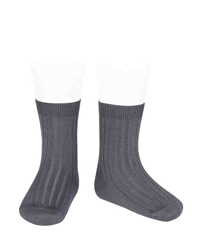 Condor Ankle Ribbed Sock (#257 Carbon)