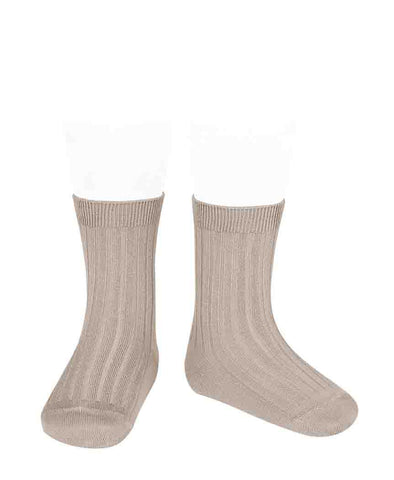 Condor Ankle Ribbed Sock (#334 Pedra)
