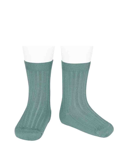 Condor Ankle Ribbed Sock (#415 Hielo)