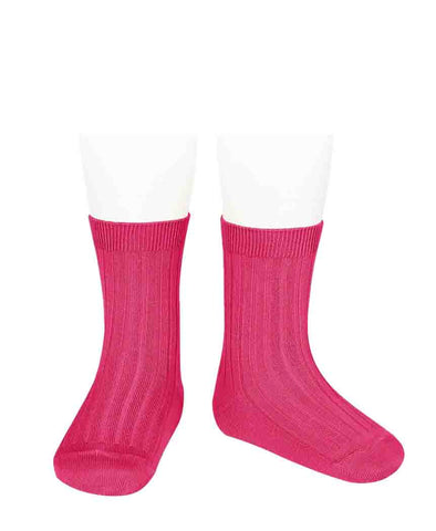 Condor Ankle Ribbed Sock (#509 Fuschia)