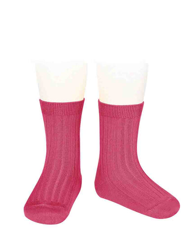 Condor Ankle Ribbed Sock (#521 Carmin)