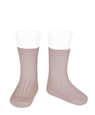 Condor Ankle Ribbed Sock (#544 Rosa Empo)