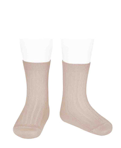 Condor Ankle Ribbed Sock (#674 Nude Pink)