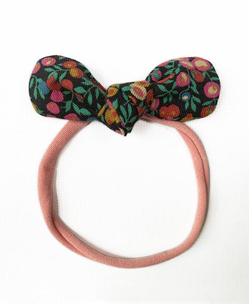 Pretty Wild Anna Bow Elastic Headband Cranberry
