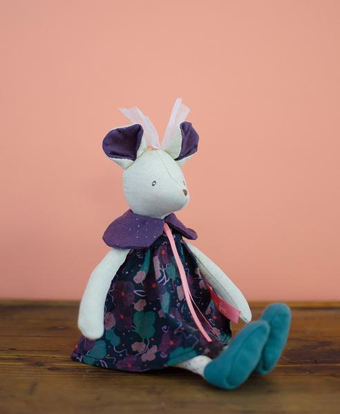 Moulin Roty Mouse Dark Purple Dress