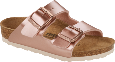 Birkenstock Arizona Kids Metallic Copper NARROW