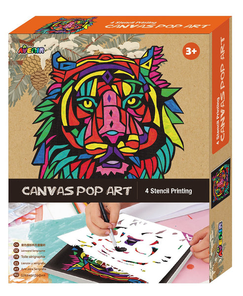 Avenir Clever Hands Canvas Pop Art Stencil Kit Lion