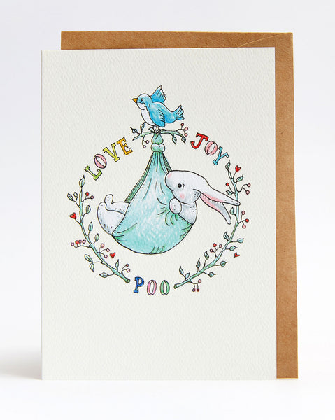 Wally Paper Co: Love, Joy, Poo Card
