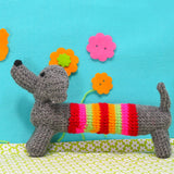 Button Bag Crochet Sausage Dog