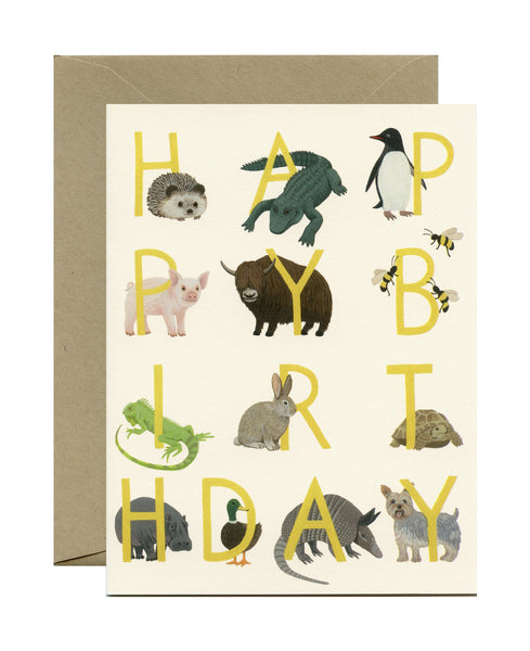 Yeppie Birthday Menagerie Card