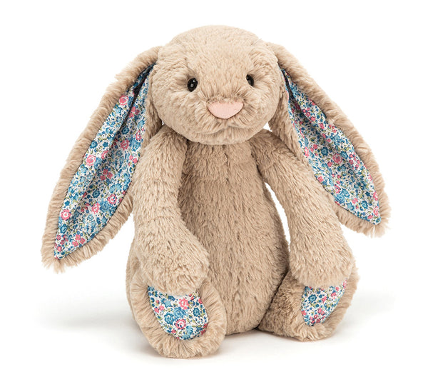 Jellycat Beige Blossom Bashful Bunny - Small