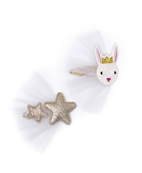 Billy Loves Audrey Bunny and Star Clip Duo