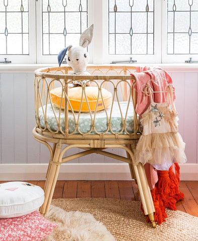 Byron Bay Hanging Chair Bassinet - Natural