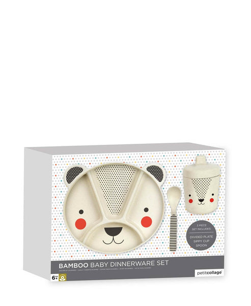 Petit Collage Bamboo Baby Dinner Set
