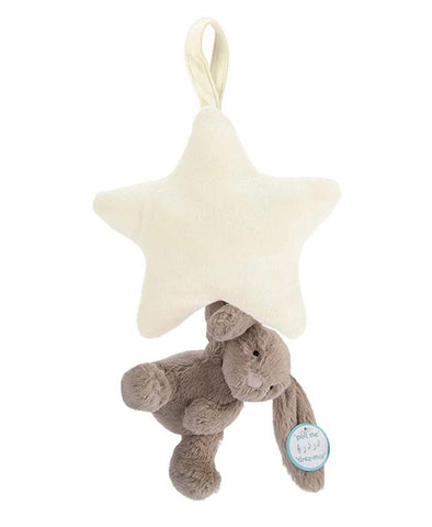 Jellycat Bashful Beige Star Musical Pull