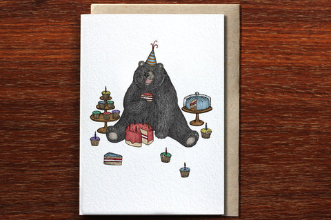 The Nonsense Maker The Bear Who Loves Cake Card