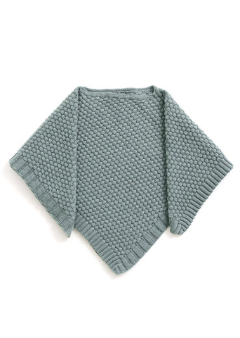 Uimi Bellamy Basket Weave Stitch Poncho: Sea