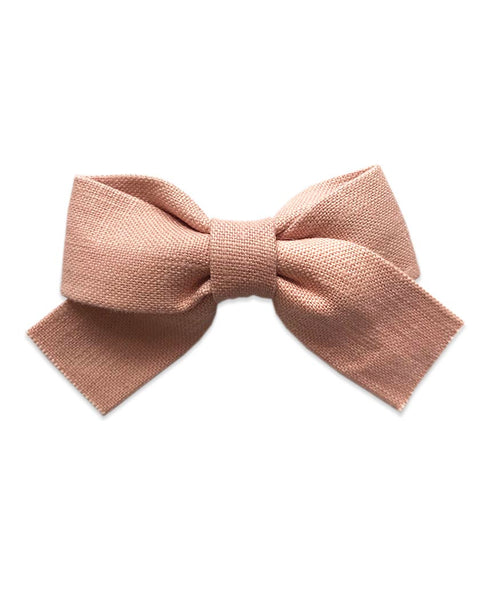 Pretty Wild Belle Big Bow Clip Blush Linen