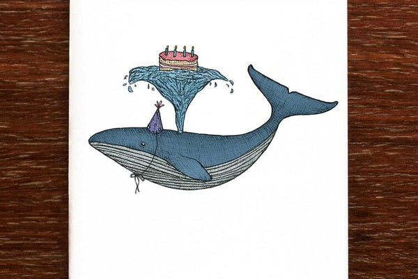 The Nonsense Maker Birthday Whale Card