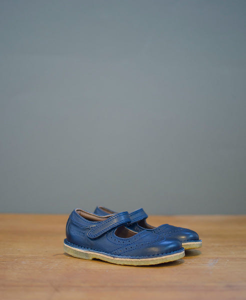 Bisgaard Mary Jane, Brogue Style Blue