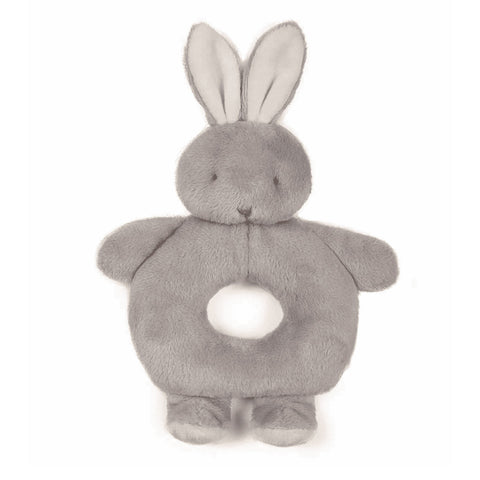 Bunnies By The Bay Grey Bunny Ring Rattle