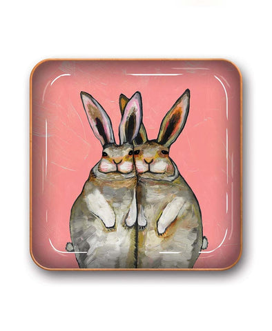 Studio Oh Bunny and Friends Catchall Metal Tray