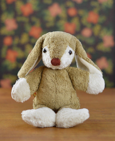 Kallisto Organic Brown Rabbit with White Cheeks with Music Box