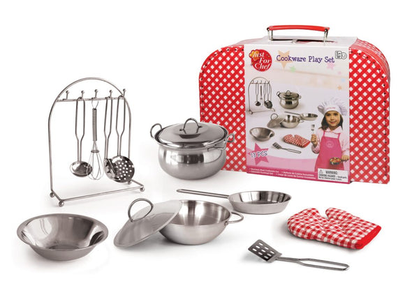 13 Pce Metal Cooking set in Suitcase