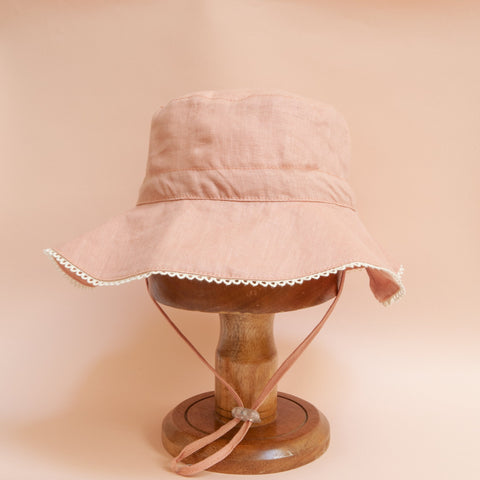 Pretty Wild Charlie Summer Hat Blush Linen