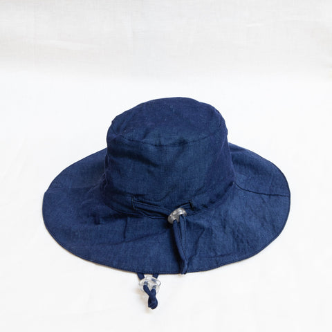 Pretty Wild Charlie Summer Hat Denim Linen