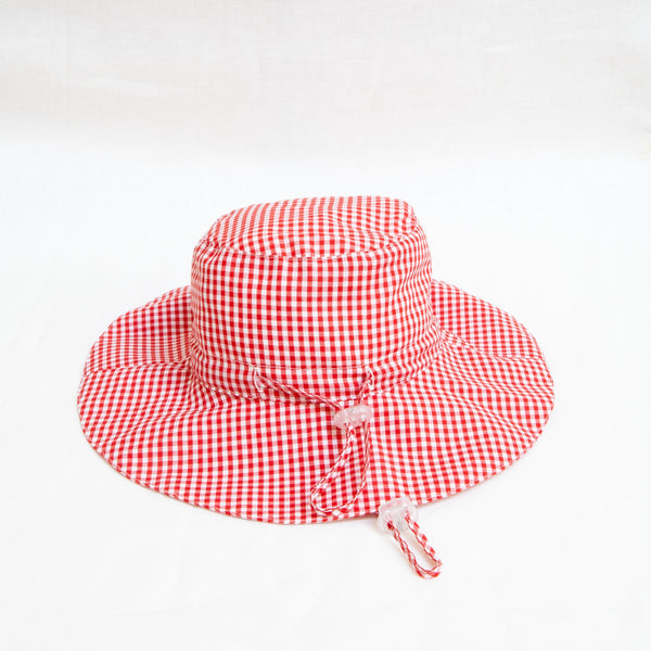 Pretty Wild Charlie Summer Hat Red Gingham