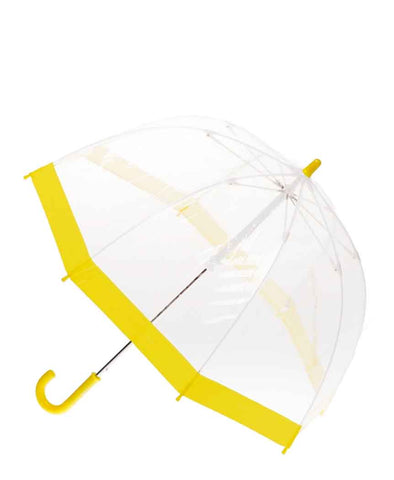 Clifton Umbrella - Birdcage Clear with Yellow Trim
