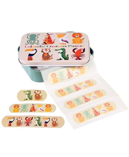 Colourful Creatures Plasters / Bandaids in a Tin