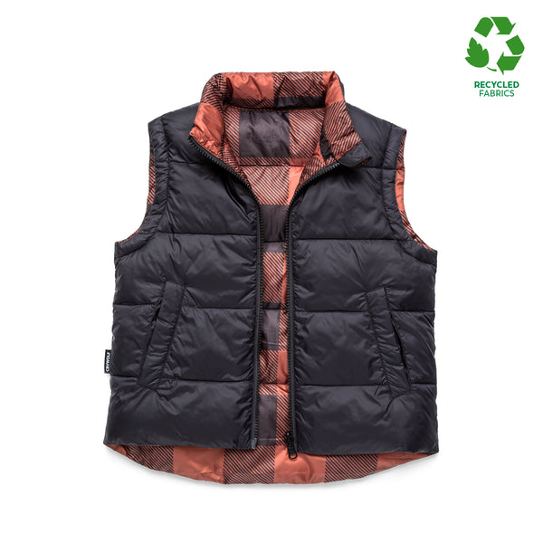 Cry Wolf Reversible Vest - Plaid