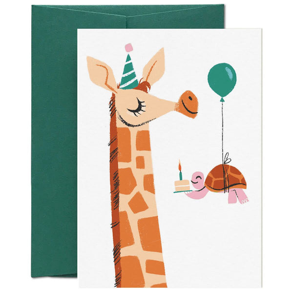 Card Nest Way Up Here Giraffe Card