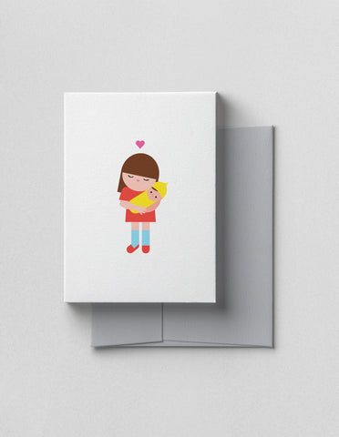 V. Happy Paper Co Baby Card - Big Sister