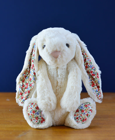 Jellycat Bashful Blossom Cream Bunny - Medium