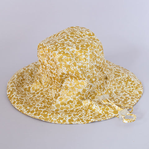Pretty Wild Charlie Summer Hat Metallic Gold