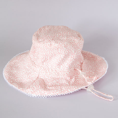 Pretty Wild Charlie Summer Hat Pink w/ White Brim