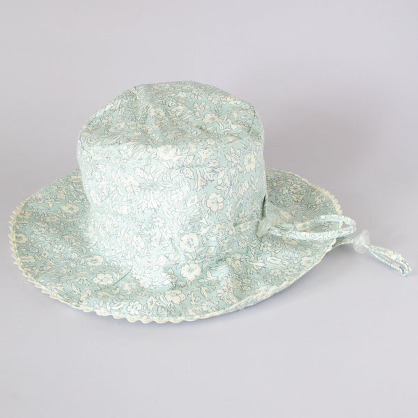 Pretty Wild Charlie Summer Hat Blue w/ Cream Floral