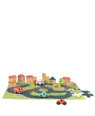 Egmont City Cars Wooden Puzzle