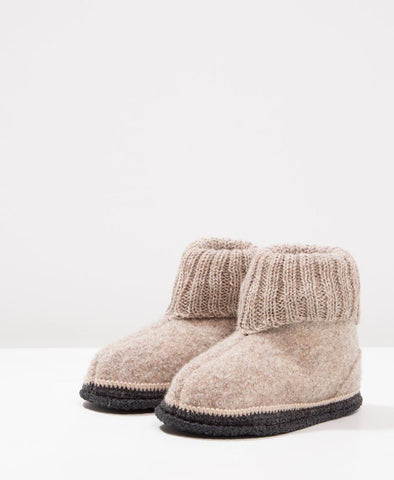 Bergstein Cozy Kids Slippers Beige