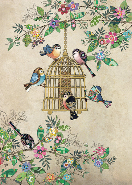 Bug Art Bird Feeder Card