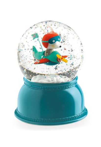 Little Big Room Djeco Aeroplane Night Light Snow Dome